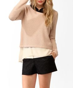 Chiffon Lined Boxy Sweater | FOREVER 21 - 2030186491
