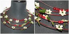 Flower Jewelry (red and white) - Florists - Godalen