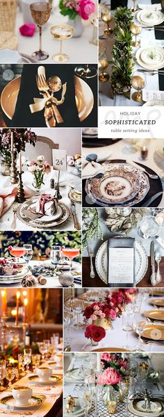 50 Christmas and New Year's table setting ideas picks by My Paradissi- the sophisticated table setting