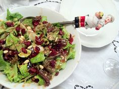 My Christmas salad. Christmas Is Coming, Sprouts, Salad, Vegetables, Cooking, Food, Kitchen, Essen, Salads