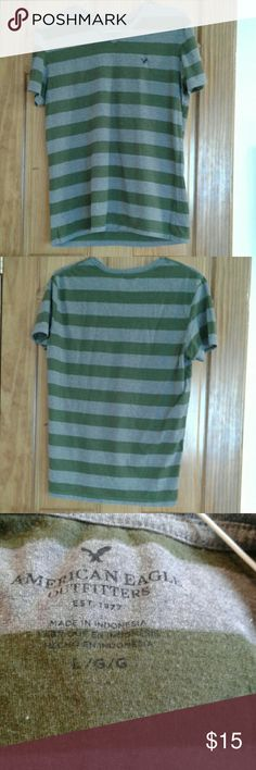 BOGO American Eagle stripped cotton men's tee American Eagle stripped cotton tee large American Eagle Outfitters Shirts Tees - Short Sleeve