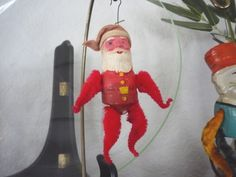 This vintage Santa toy and Christmas ornament is one of my favorites.