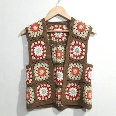 Granny Square Sweater, Granny Square Crochet Pattern, Crochet Blanket Patterns, Crochet Stitches, Boho, Beautiful Crochet, Crochet Clothes, Festival Fashion, Knit Crochet