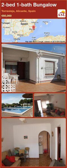 2-bed 1-bath Bungalow in Torrevieja, Alicante, Spain ►€60,000 #PropertyForSaleInSpain