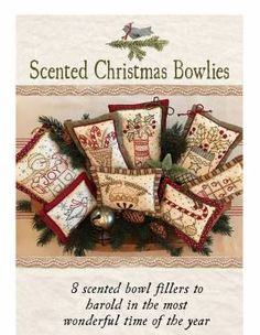 Vintage Hand Embroidery PATTERN - Scented Christmas Bowlies _KS1816