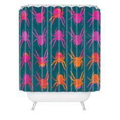 Elisabeth Fredriksson Spiders 4 Shower Curtain | DENY Designs Home Accessories