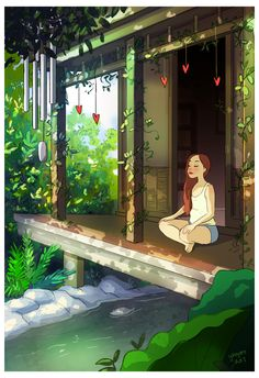 According to Christopher McCandless, happiness is only real when shared, but LA-based artist Yaoyao Ma Van As disagrees. To highlight this, she has created a colorful illustration series that celebrates the intimacy of living alone. Joy Of Living, Living Alone, Anime Art Girl, Aesthetic Art, Cartoon Art, Cute Drawings, Cute Art, Amazing Art, Awesome