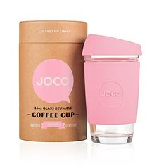 The Joco cup is the barista friendly reusable cup that's been designed to enhance your daily cuppa and keep mother nature happy and we like that! Made from strong borosilicate glass,.