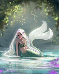 mermaid nails Playing around with different textures. Have a wonderful weekend everyone! Mermaid Artwork, Mermaid Drawings, Art Drawings, Art Sketches, Fantasy Mermaids, Mermaids And Mermen, Images Of Mermaids, Real Life Mermaids, Character Art