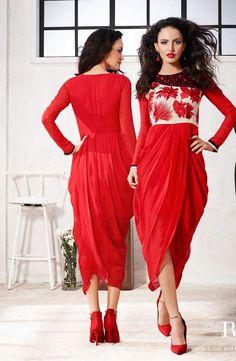 #RED #VIBE -Red #Kurti