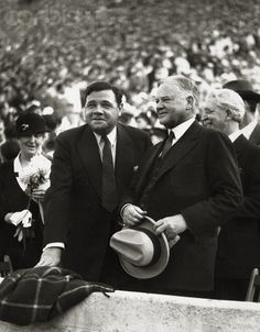 Babe Ruth with Herbert Hoover 1933