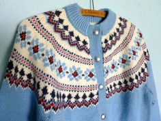 Lets Hit the Slopes Nordic Sweater by StitchyLifeVintage on Etsy