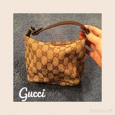 Authentic Gucci mini bag - perfect condition!! Mini Gucci bag in classic brown print. Perfect condition!! No marks inside, no signs of wear. Gucci Bags Mini Bags