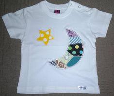 lunita y estrella camiseta pachtwork