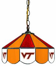 Hokies stained glass lamp