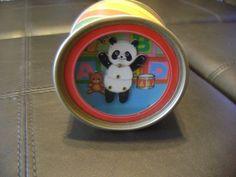 "OTAGIRI JAPAN PANDA BEAR MUSIC BOX ""It's Small World"" Disney Song Numbered"
