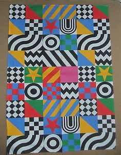 "Sir Peter Blake - ""Razzle Dazzle"" Tea Towel"
