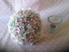 Hand held button boquet x