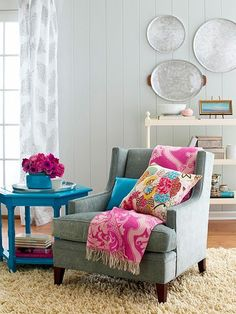 Colorful accessories home decor. Turquoise table. favorite-places-spaces