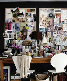 I would find THIS much inspiration board overwhelming, but it's very cool to look at it in someone else's application.