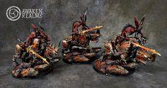 Warhammer 40k   Chaos Daemons   Bloodcrushers of Khorne  #warhammer #40k #40000 #wh40k #wh40000 #warhammer40k #gw #gamesworkshop #wellofeterntiy #miniatures #wargaming #hobby #tabletop #khorne #juggernauth #aos #ageofsigmar