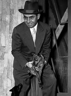 Lucky Luciano with his dog