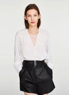 Camisa de seda com laços - Coleção - Última semana - Uterqüe Portugal