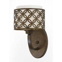 Orion 1 light wall sconce in Aged Bronze | Overstock.com