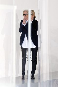 Jil Sander after the Spring Summer show 2014