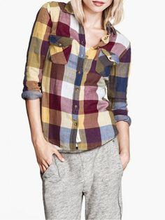 Yellow Checked Pocket Shirt - Fashion Clothing, Latest Street Fashion At Abaday.com