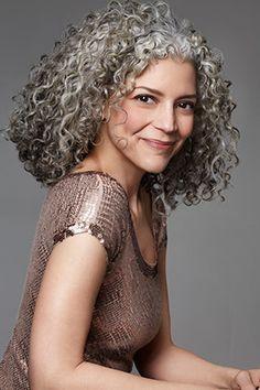 Gray grey silver natural hair. :)