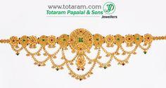 22 Karat Gold Baby Vaddanam, Oddiyanam, Waist Belt, Kammar Patta