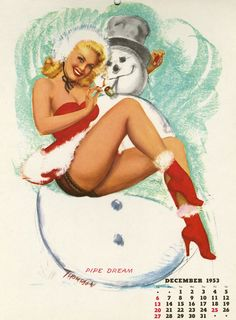 (via Christmas Pin Up by T.N. Thompson: Pin Up and Cartoon Girls)