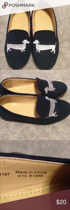 NWOT crewcuts daschund shoes So adorable my daughter never used them! J. Crew Shoes Dress Shoes