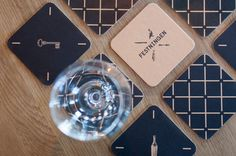 Logo and coasters by Uniform for Oslo brasserie Festningen
