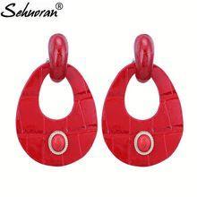 Sehuoran Drop Earrings For Woman Artificial Leather Dangle Earrings Jewelry Wholesale New Arrived Hot Sale Brand Ear //FREE Shipping Worldwide //