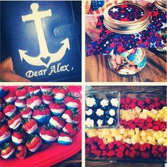 navy going away party! patriotic ⚓