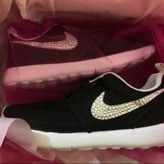 detailed look 721fa 88f35 Nike Air Presto Desert SandWhite customized with SWAROVSKI®  Etsy