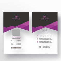 مكتب بطاقة الهوية قالب Modern Business Cards, Business Card Design, Identity Card Design, Rustic Toilet Paper Holders, Visiting Card Templates, Corporate Id, Id Card Template, Branding, Making Greeting Cards