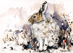 "Saatchi Online Artist: Lucy Newton; Other, Mixed Media ""Winter Hare"""