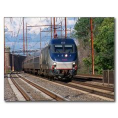 Amtrak Electric Locomotive HHP-8 #659 Post Cards - The HHP-8 is a double-ended electric locomotive manufactured by a consortium of Bombardier and Alstom.. HHP-8 stands for High HorsePower 8000. -SOLD-