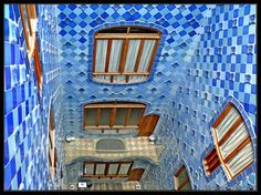 Tile work designed and built by Gaudi