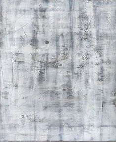 Modern Minimalist Painting Neutral White Gray Abstract