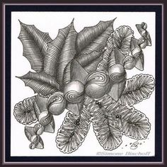 Doodle Patterns, Zentangle Patterns, Graphic Patterns, Zentangle Drawings, Doodles Zentangles, Art Drawings, Christmas Doodles, Christmas Art, Christmas Ideas