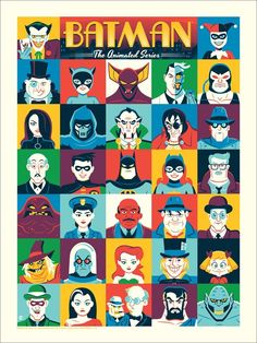 "Batman: The Animated Series by Dave Perillo 18""x24"" Screen Print, Edition of 225…"