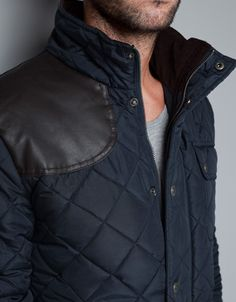JACKET WITH FAUX LEATHER PATCH - Jackets - Man - ZARA United States