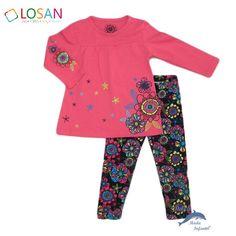81dad57604c Conjunto para niña LOSAN con malla y camiseta estampada Marcas De Ropa  Infantil, Marca De