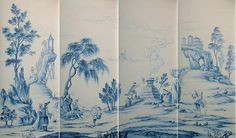 Papier peint chinois from Yrmural Studio,Good price with same high quality as deGournay and Zuber at http://www.yrmural.com