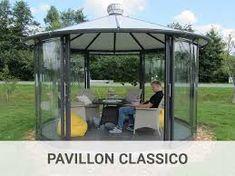 Gartenhaus mit Glasdach – Google-Suche Orangery Extension Kitchen, Modern Gazebo, Pavillion, Pergola, Outdoor Structures, House Design, Tricks, Farms, Home Decor