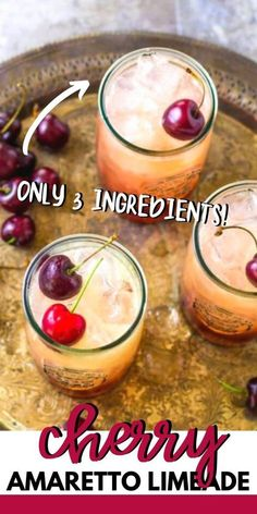 Amaretto Recipe, Amaretto Drinks, Bar Drinks, Cocktail Drinks, Alcoholic Drinks, Cherry Cocktails, Beverage, Christmas Drinks, Holiday Drinks